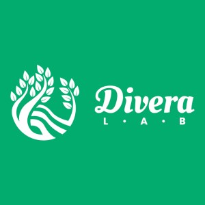 Divera Lab Logo - Horizontal - Green Background