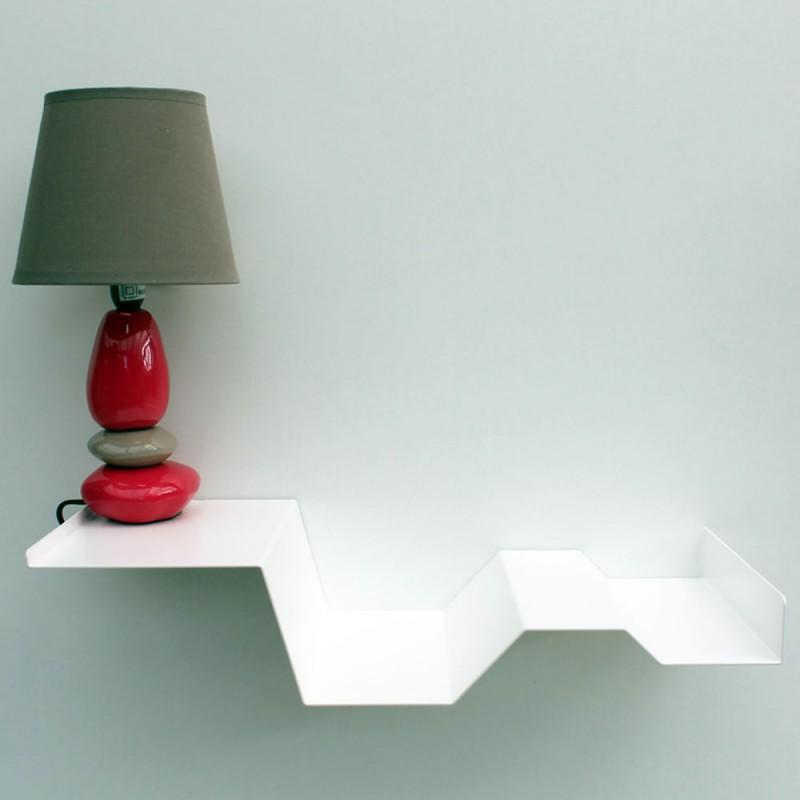 Table de chevet suspendue murale blanche chevet mural table de nuit
