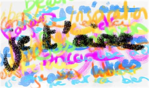 Une peinture intuitive avec des mots