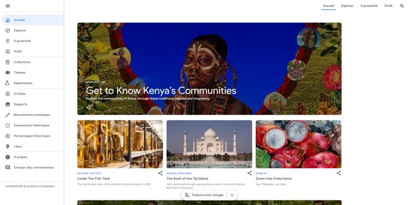 Des peintures de maîtres comme modèle sur Google Arts & Culture