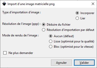 InkScape : Import d'une image matricielle