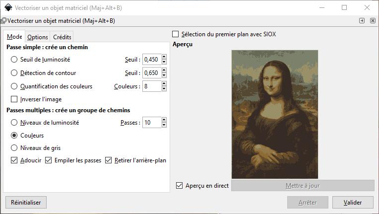 InkScape : Vectoriser une image avec 10 passes