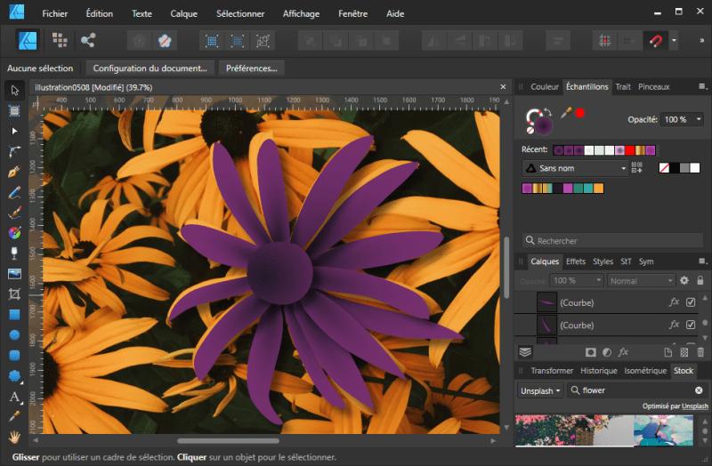 Tuto Affinity Designer : Résultat de l'effet d'ombre ! (6)