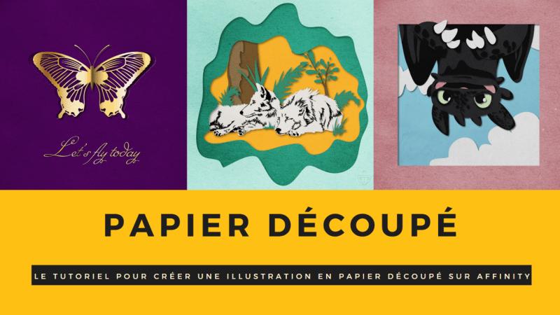 Tutoriel Affinity Designer : Illustration en papier découpé