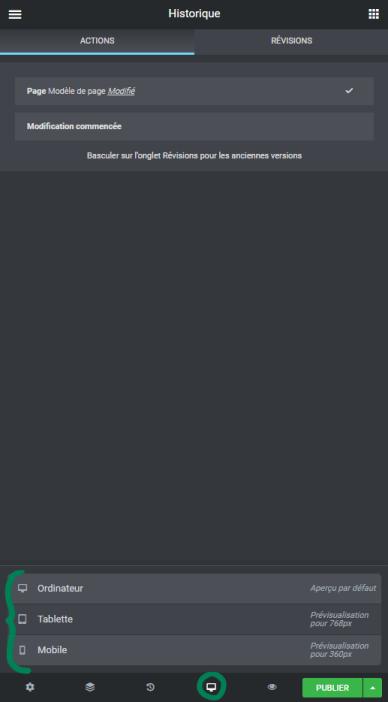 Elementor Pro : responsive