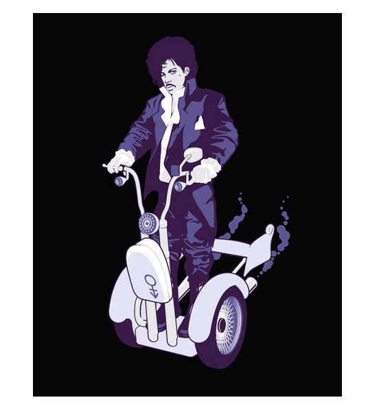 Prince On a Magical Segway Ride