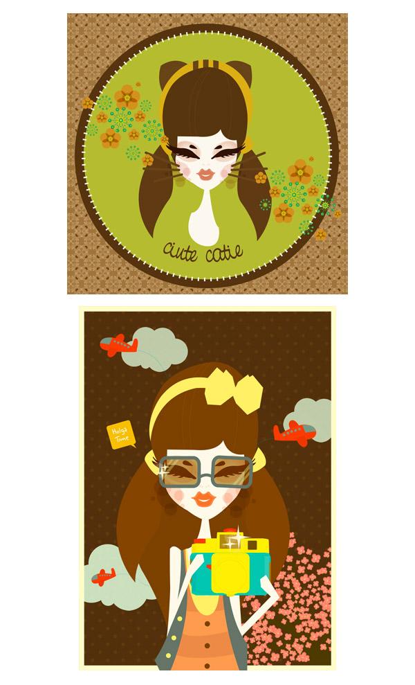 vintage girl + lolita tea party + other by melani suryadinata