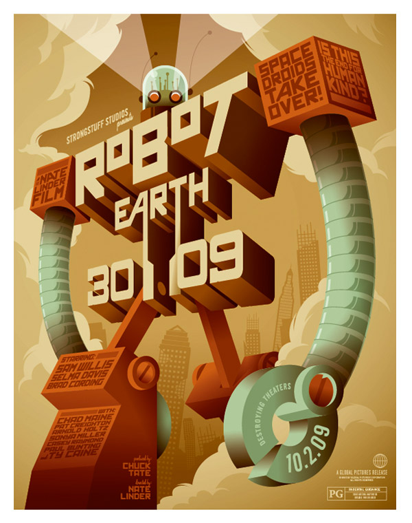 Robot Earth 3009 by Strongstuff