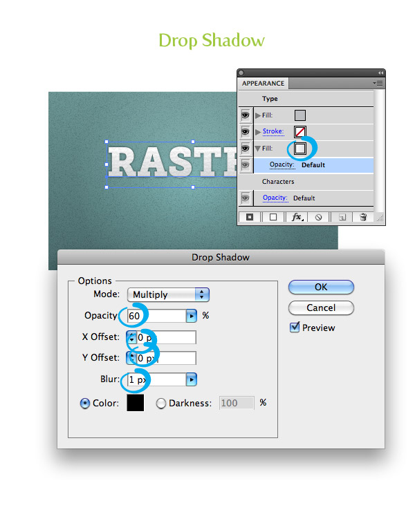 Raster Texture Step 9