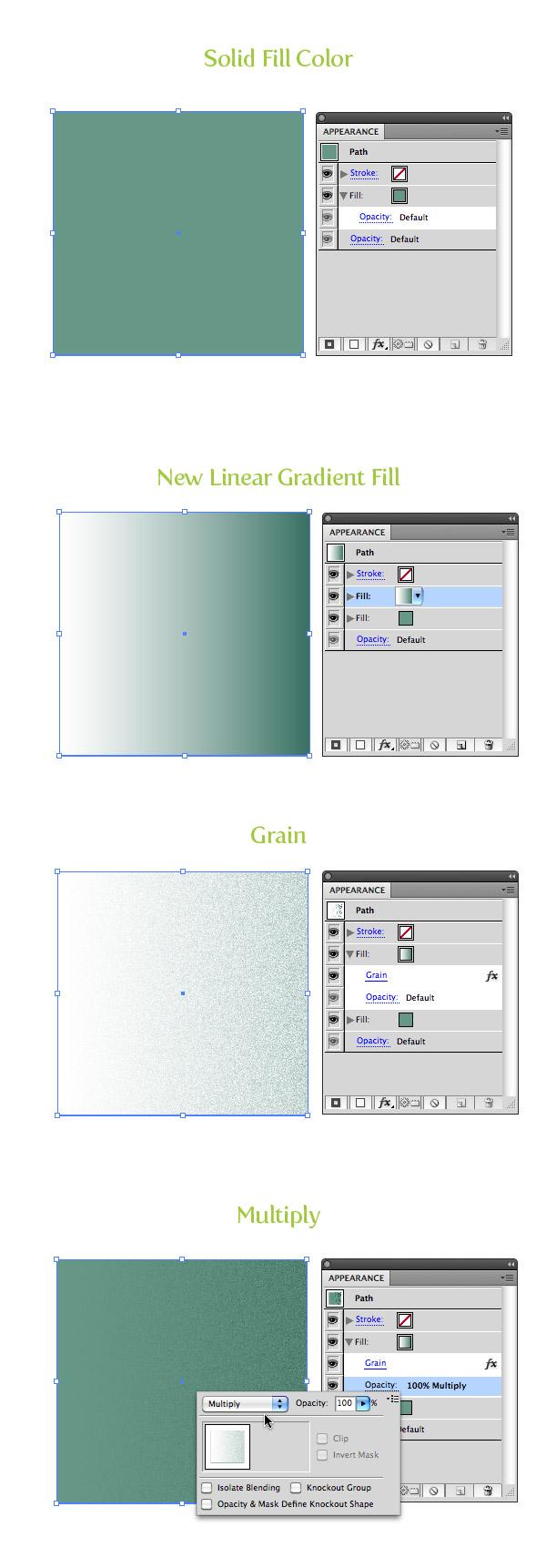 Gradient Grain Color