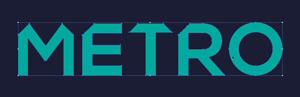 3D Geometric Text Effect