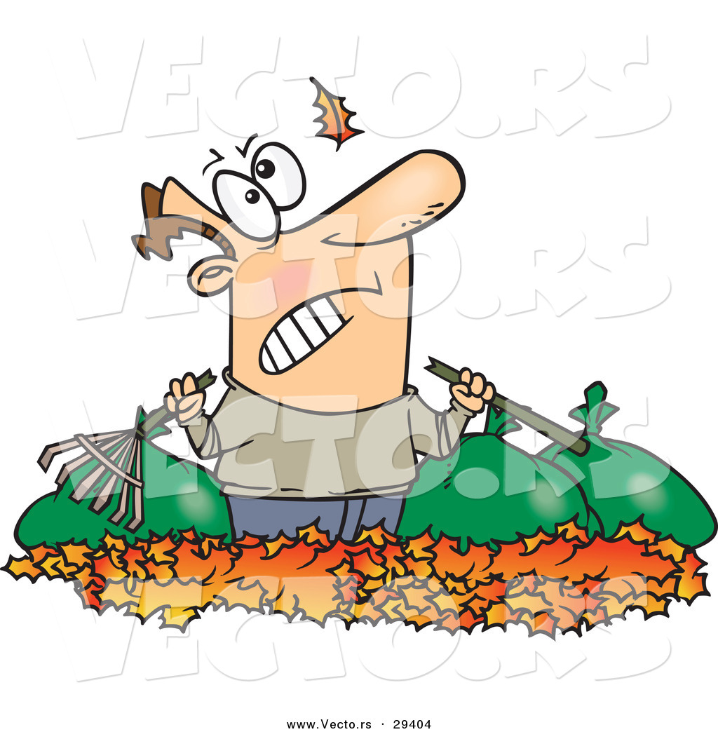 Fall Cartoon Leaf Piles