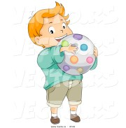 vector of cartoon caucasian boy