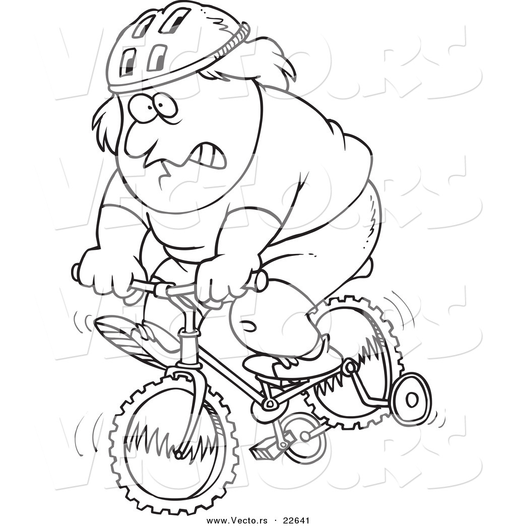 Free coloring pages of fat man