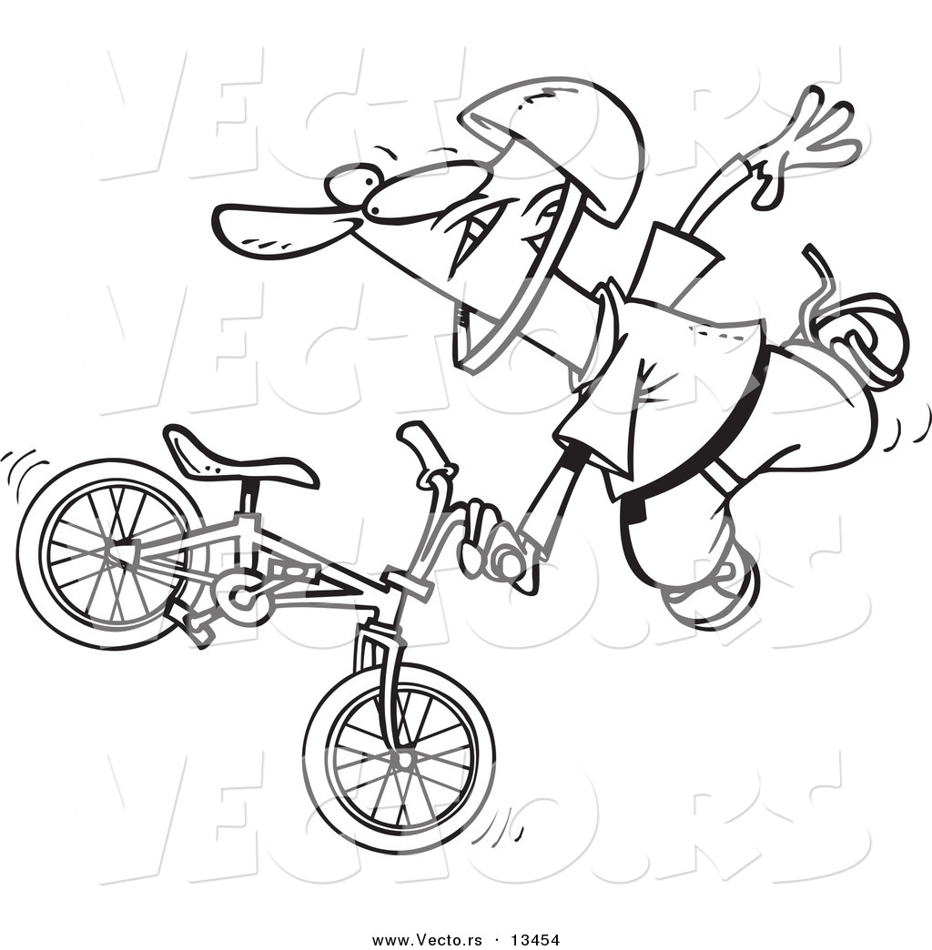 Bmx Bike Outline