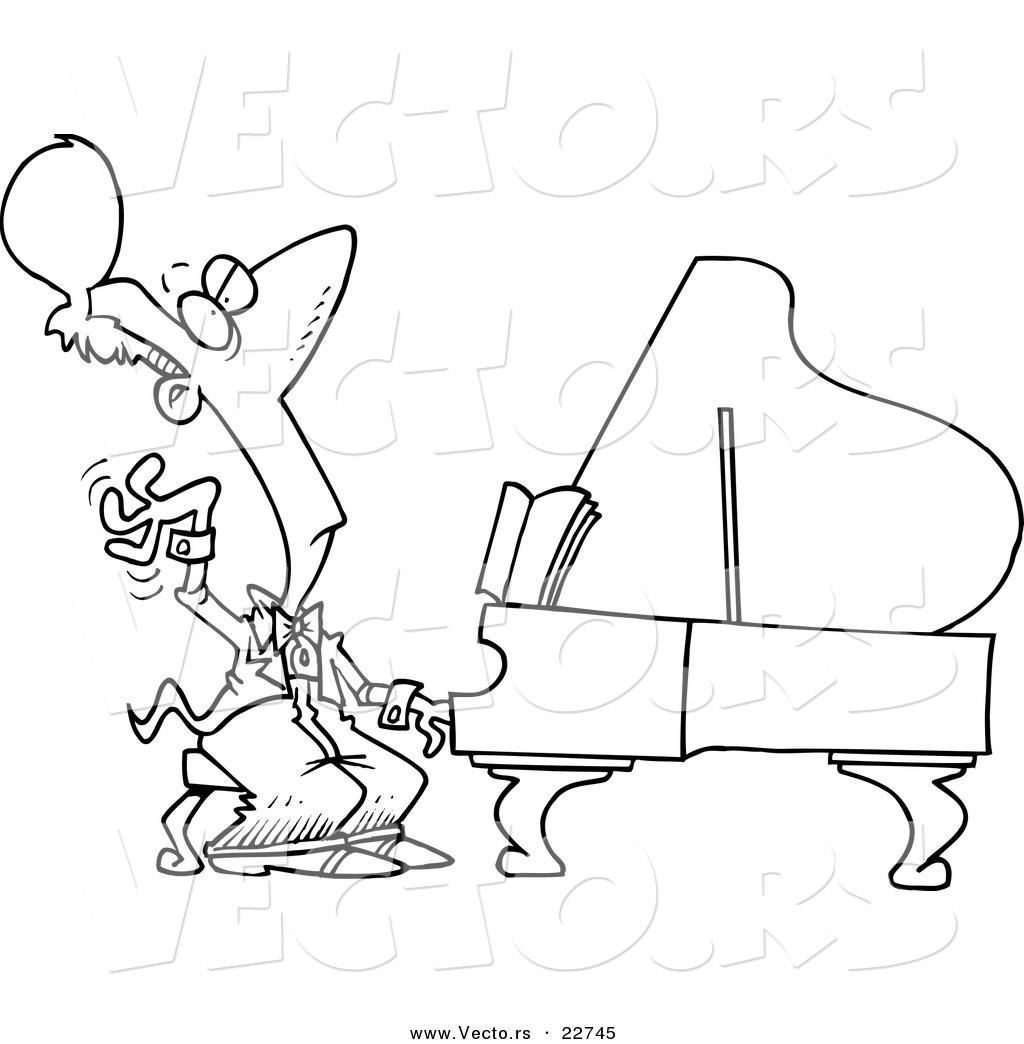 Cartoon Piano Pictures