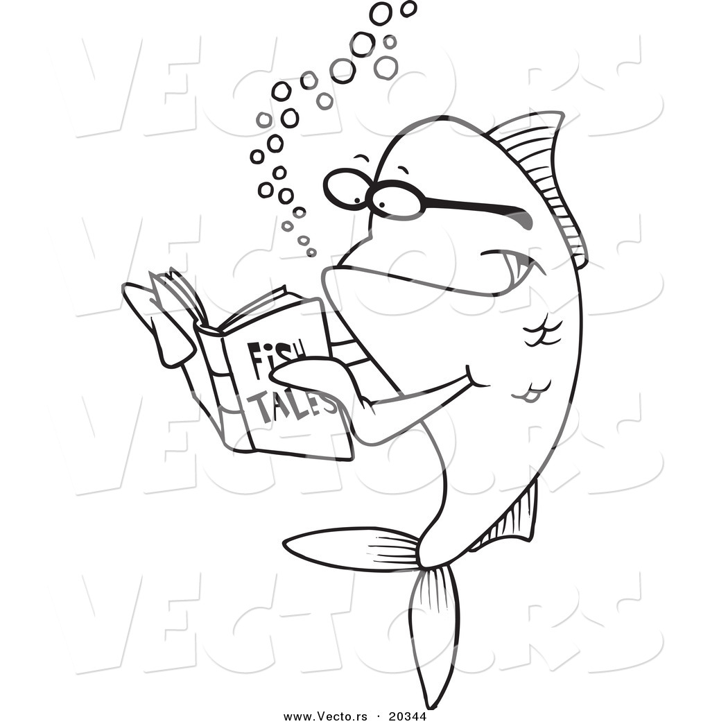 fish-reading-a-story-book-coloring-page-outline-by-ron