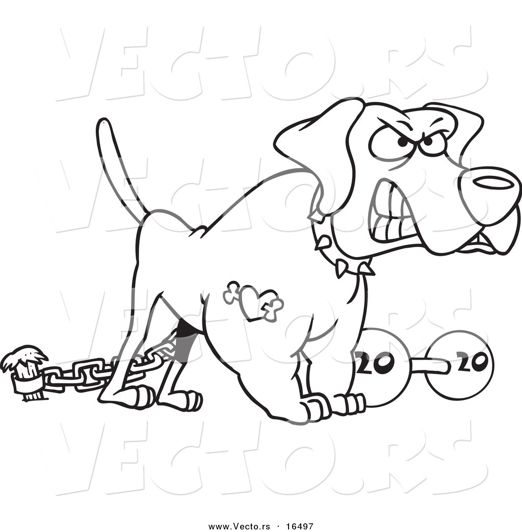 Sketch Of A Mechanical Dog Coloring Pages