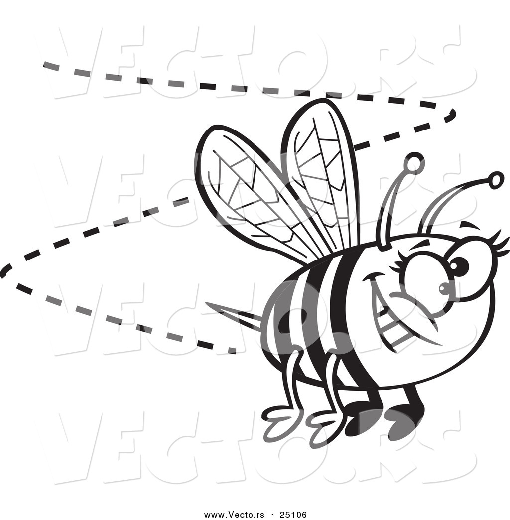Outline Bee