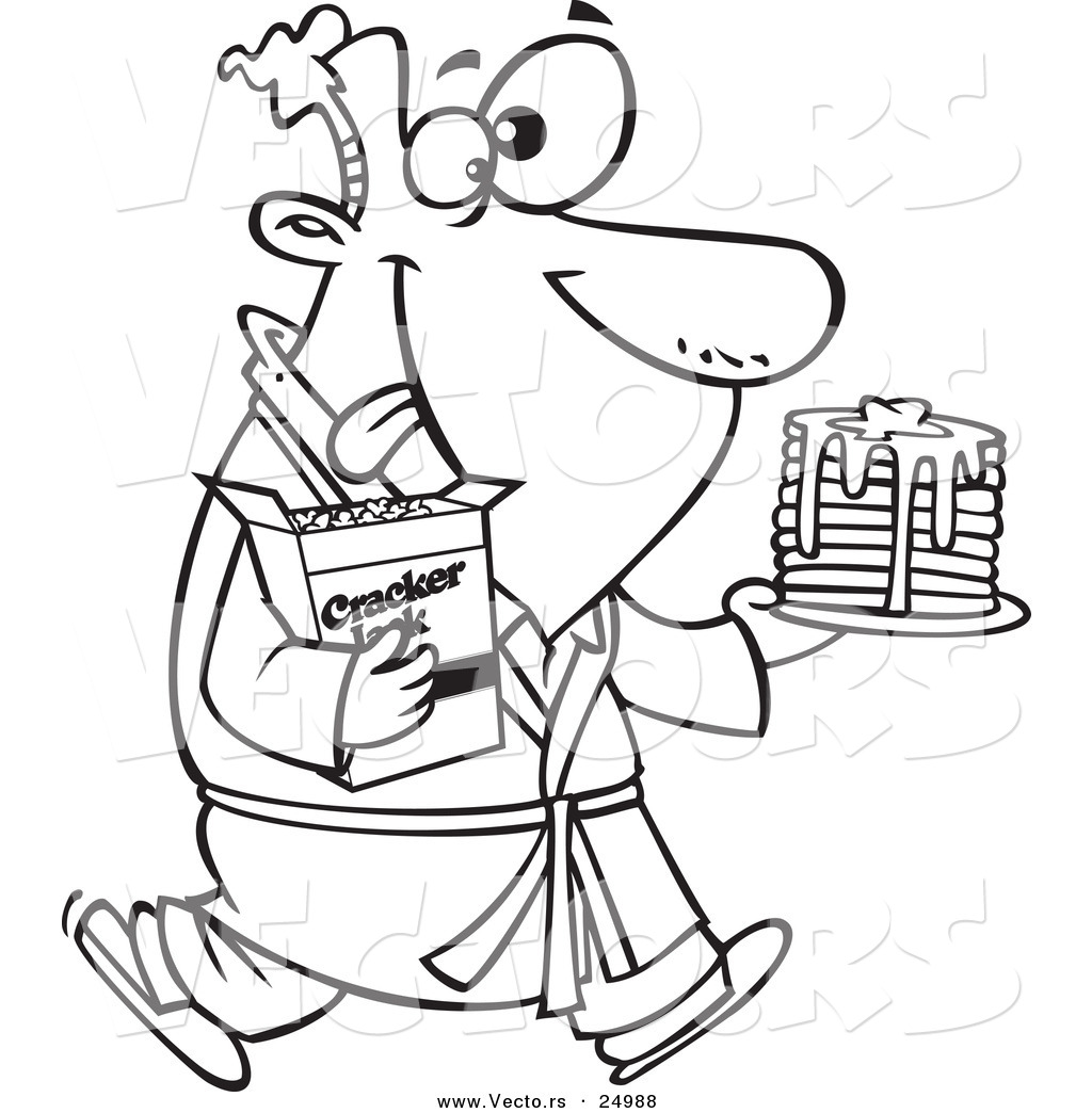 Pancake Breakfast Coloring Page Coloring Pages