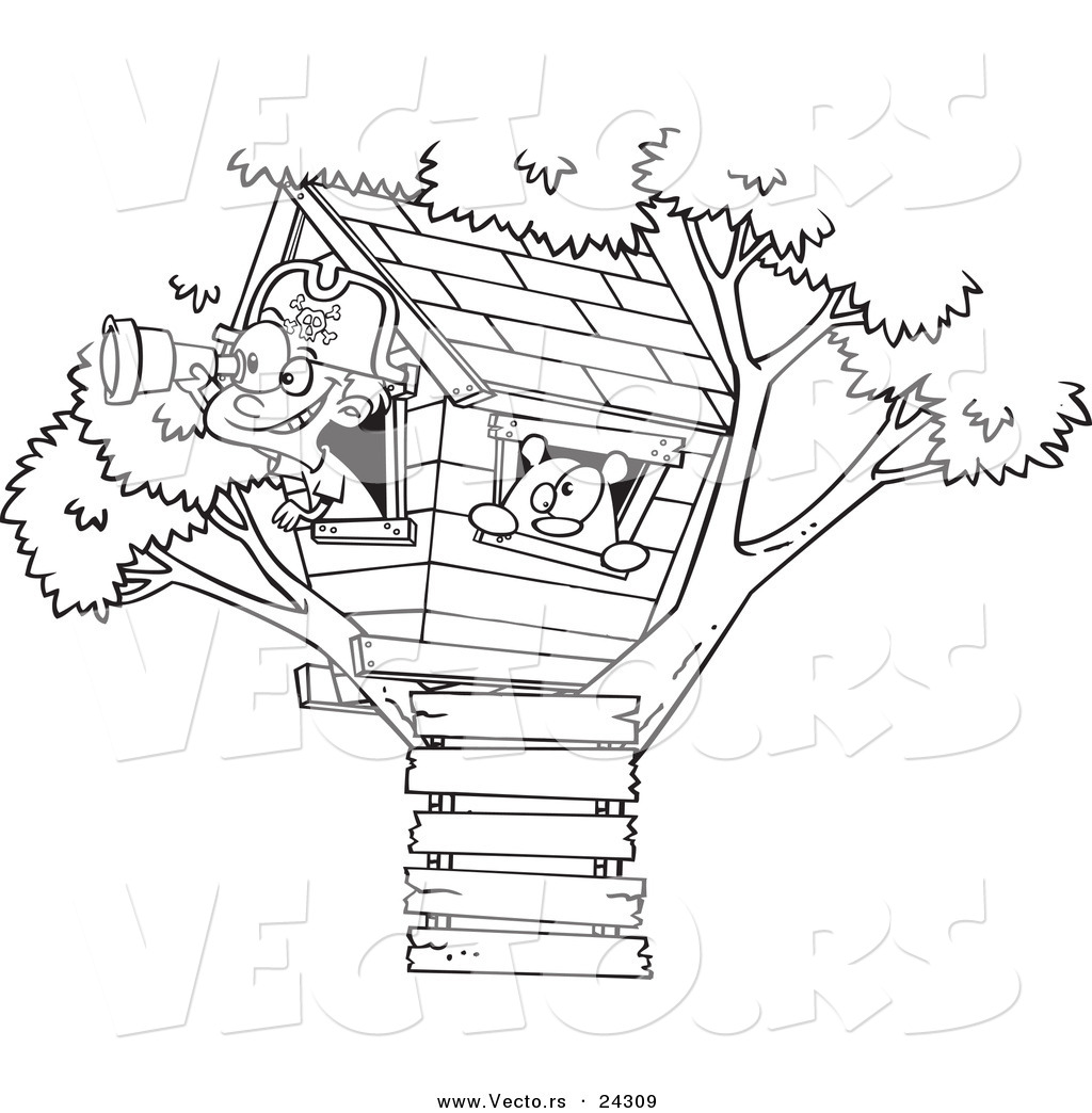 Treehouse Coloring Pages Free Coloring Pages Download | Xsibe fairy ...