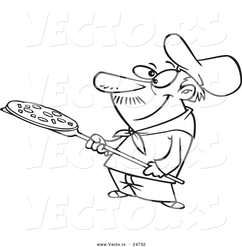 Coloring Pages Pizza Man