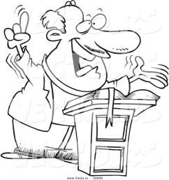 free download best pastor clipart black preacher clip art vector of a cartoon preaching pastor [ 1024 x 1044 Pixel ]