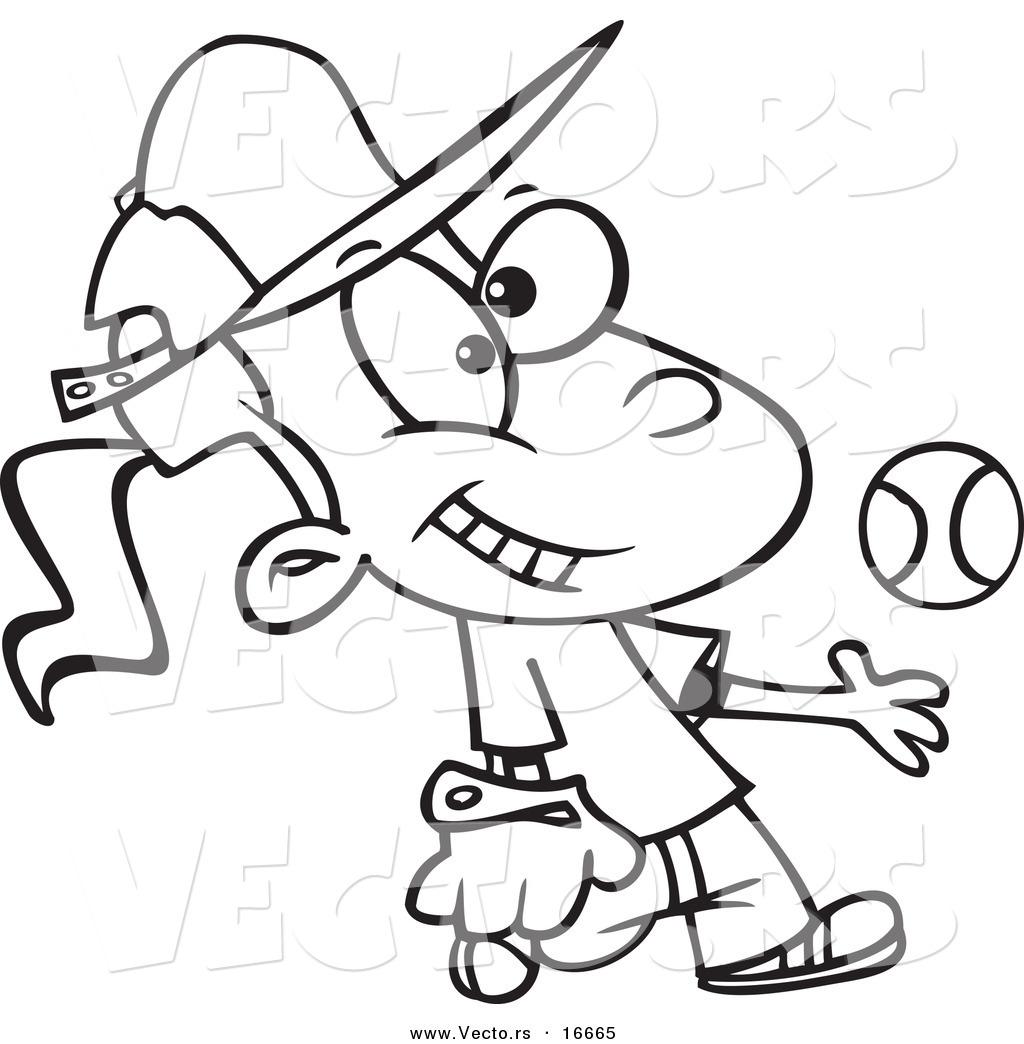 Cartoon Softball Bat