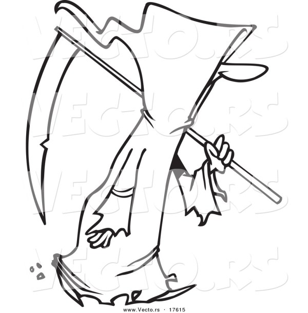 grim reaper coloring pages # 48