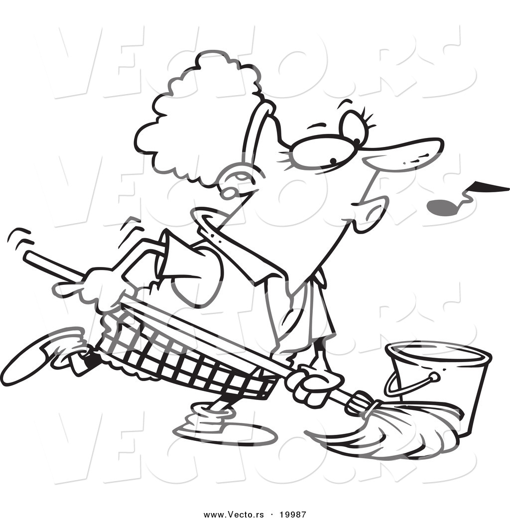 Coloring pages Housekeeping