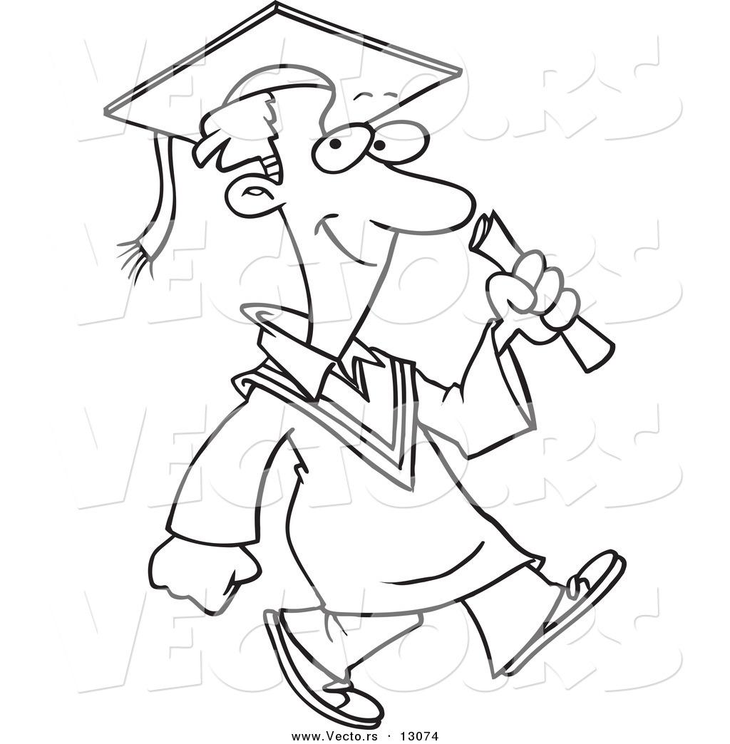 Students Graduating Cartoon
