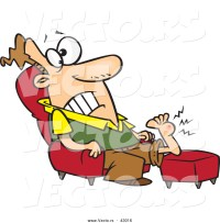 Vector of a Injured Cartoon Sitting in a Chair with a ...