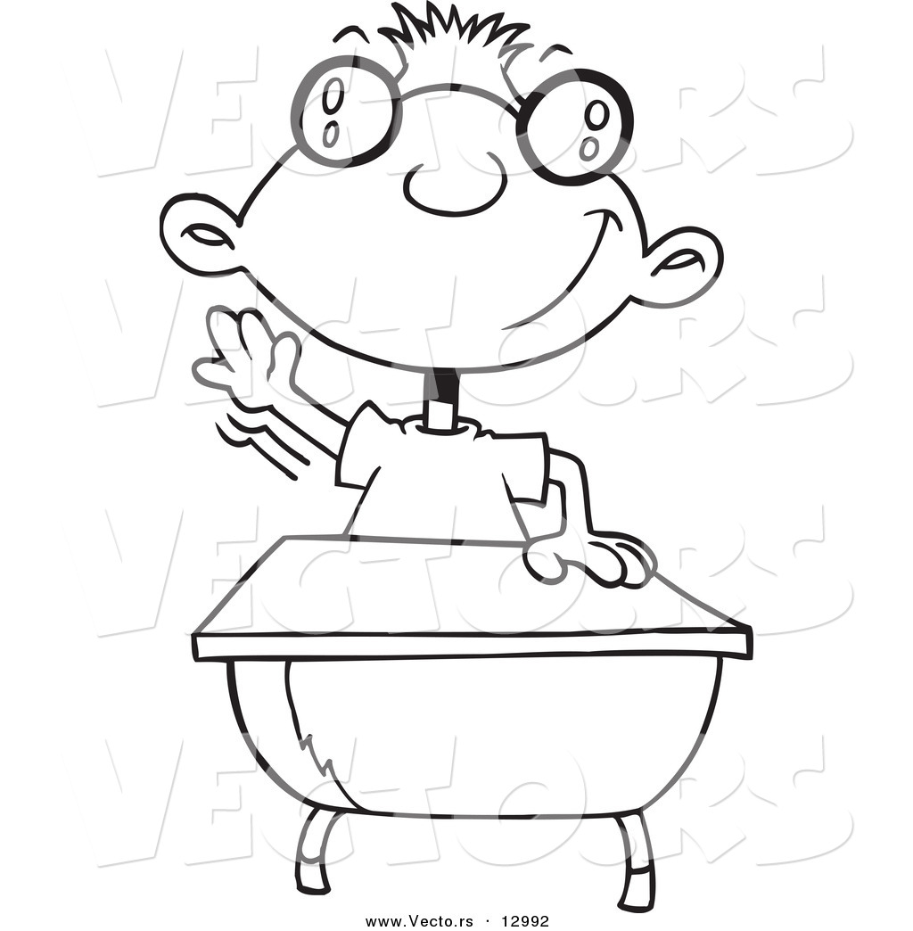 Cartoon Vector Of Cartoon Guy Skipping Rope Coloring Page