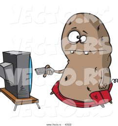royalty free couch potato stock vector clipart illustrations [ 1024 x 1044 Pixel ]