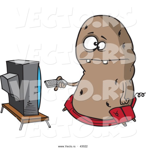 small resolution of royalty free couch potato stock vector clipart illustrations