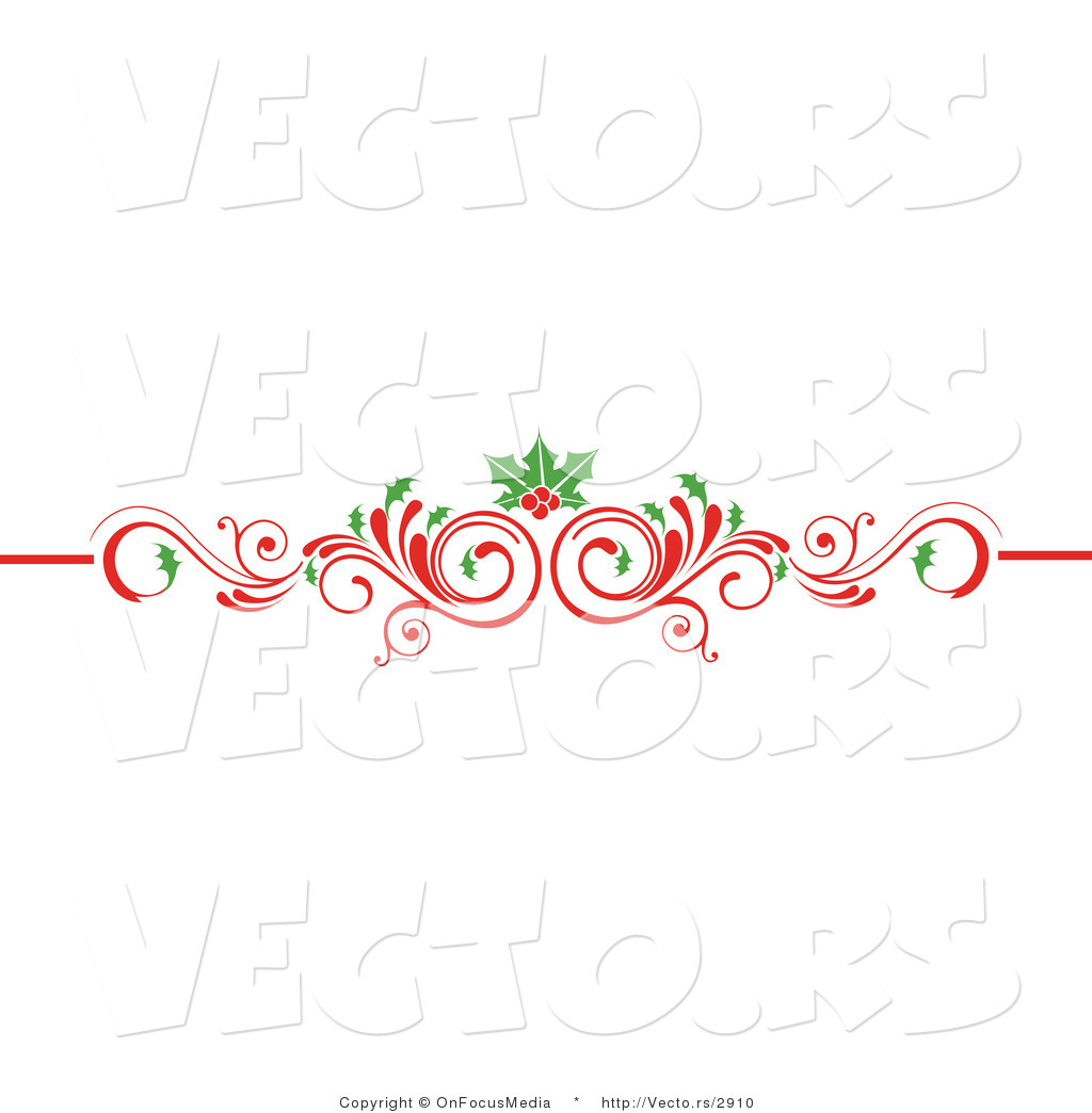 vector of christmas scrolled