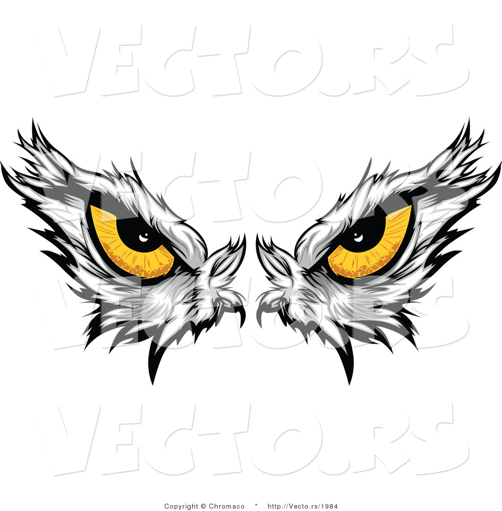 Vector Of Intimidating Eyes Of A Dominant American Bald