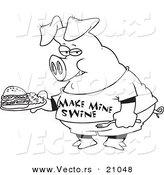 Royalty Free Pork Stock Vector Designs