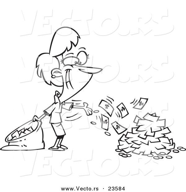 Cash Register Coloring Pages