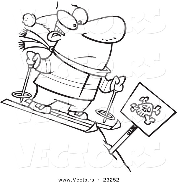 Person Skiing Coloring Page Coloring Pages