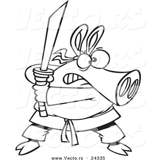 Martial Arts Print Stock Vector Image Of Vector