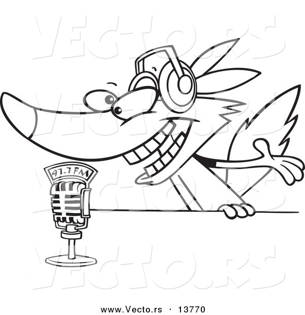 Royalty Free Radio Talk Show Stock Coloring Page Designs