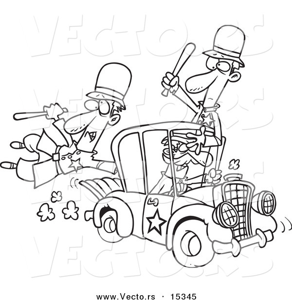 Thief Cartoon Coloring Pages