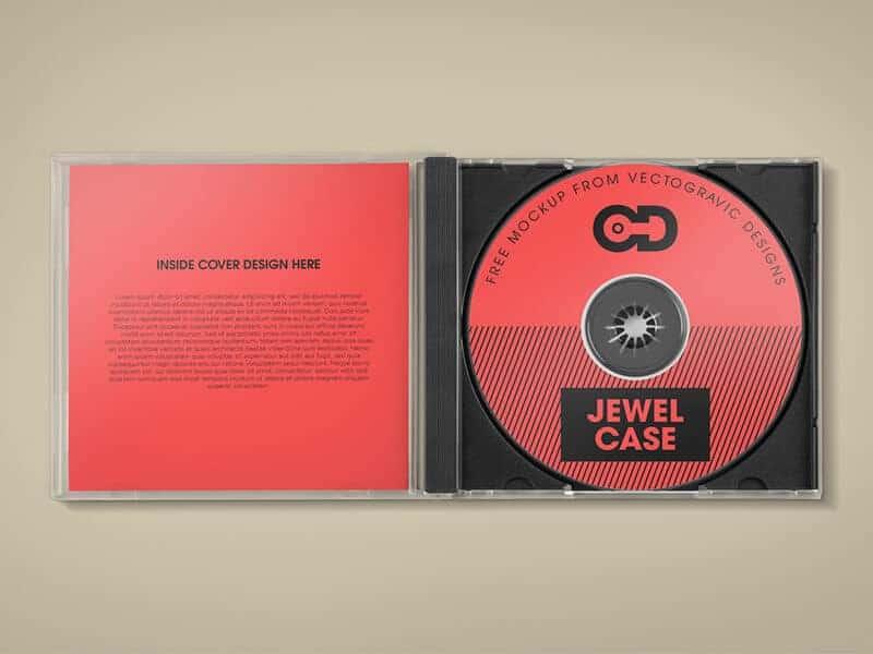 Free CD Jewel Case Mockup