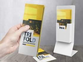High Resolution Tri Fold Brochure Mockup 10