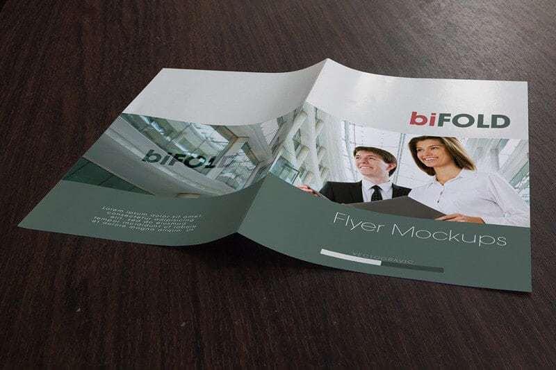 bi-fold flyer mockup