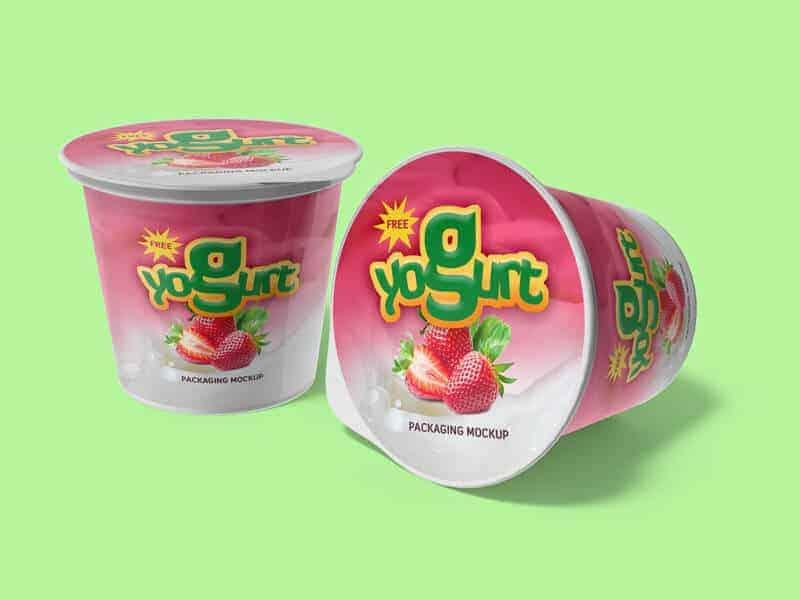 Yogurt packaging Mockups