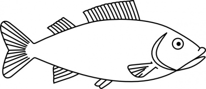 Free download of Fish Outline clip art Vector Graphic