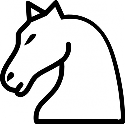 Free download of White Cartoon Chess Horse Tile Knight