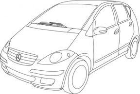 Free download of Mercedes Benz Class A Outline clip art